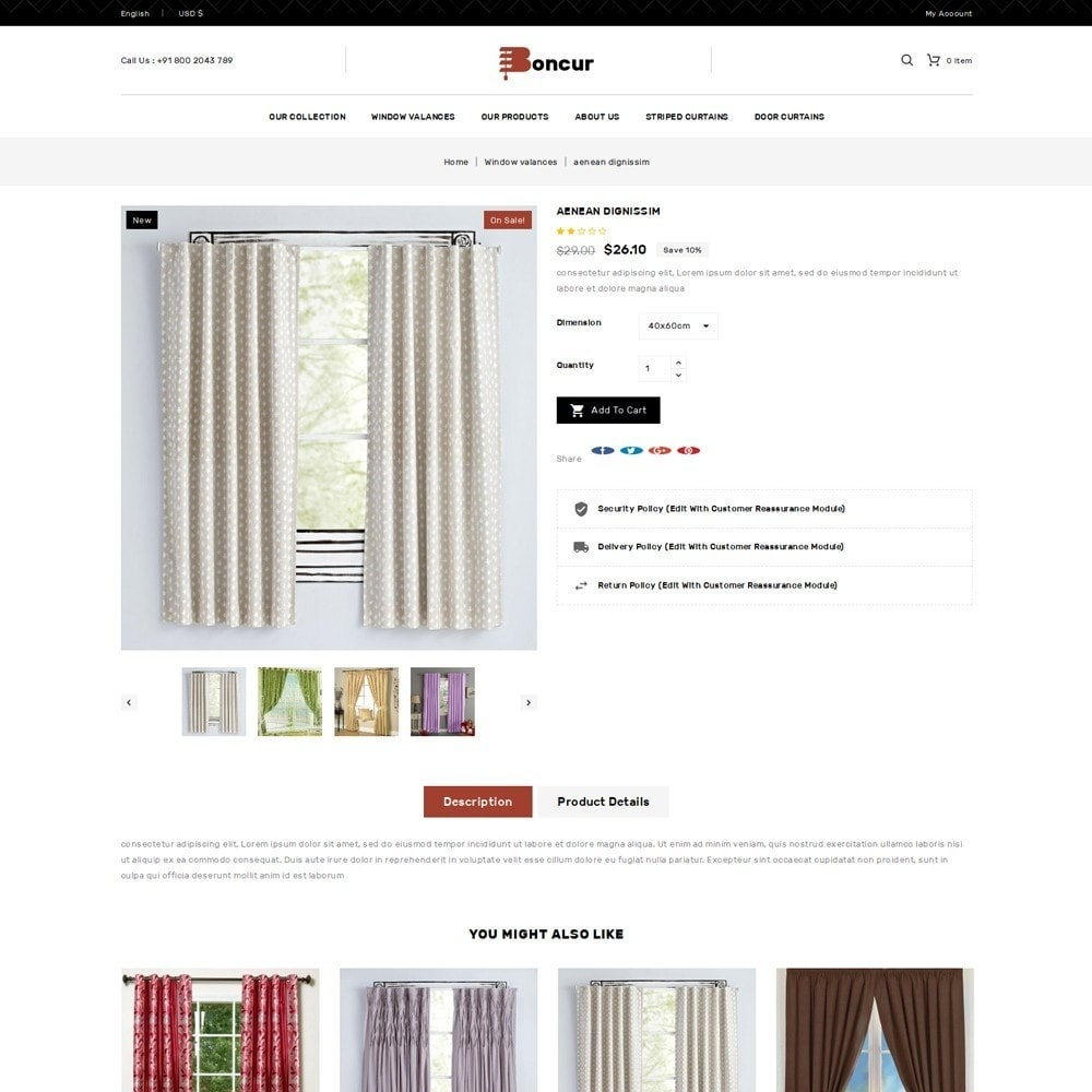 theme - Casa & Jardins - Boncur - The Curtain Shop - 6