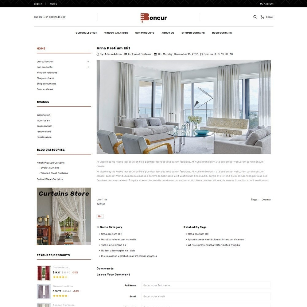 theme - Casa & Jardins - Boncur - The Curtain Shop - 7