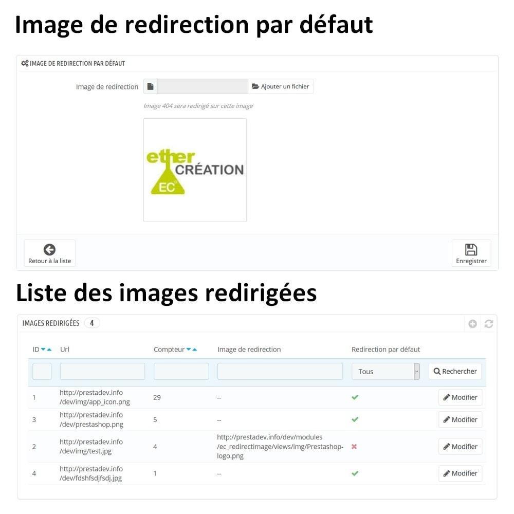 module - URL & Redirections - Redirection automatique de toutes vos images 404 - 1