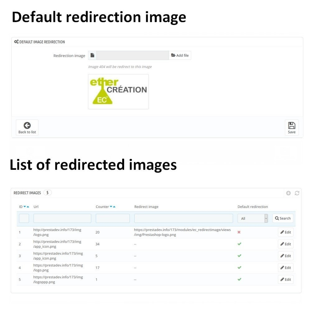 module - URL y Redirecciones - Automatic redirection of all your images 404 - 1