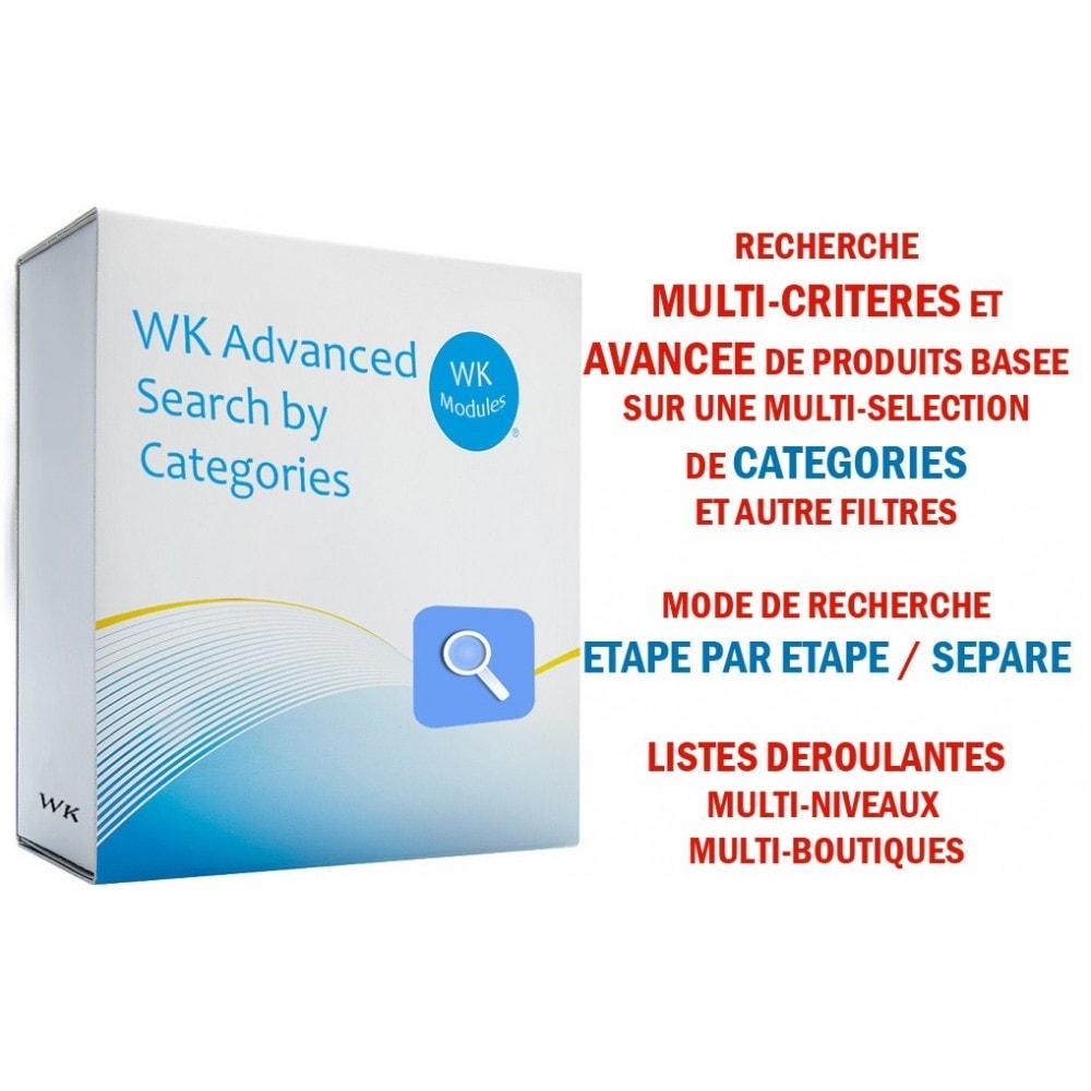 module - Recherche & Filtres - WK Recherche Avancée par Catégories - 1