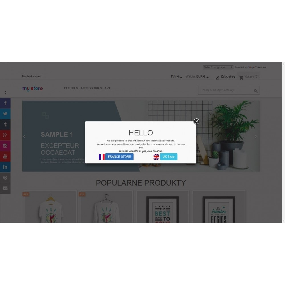 module - Dialoogvensters & Pop-ups - Show Popup Message and Redirect Links Based on Country - 2