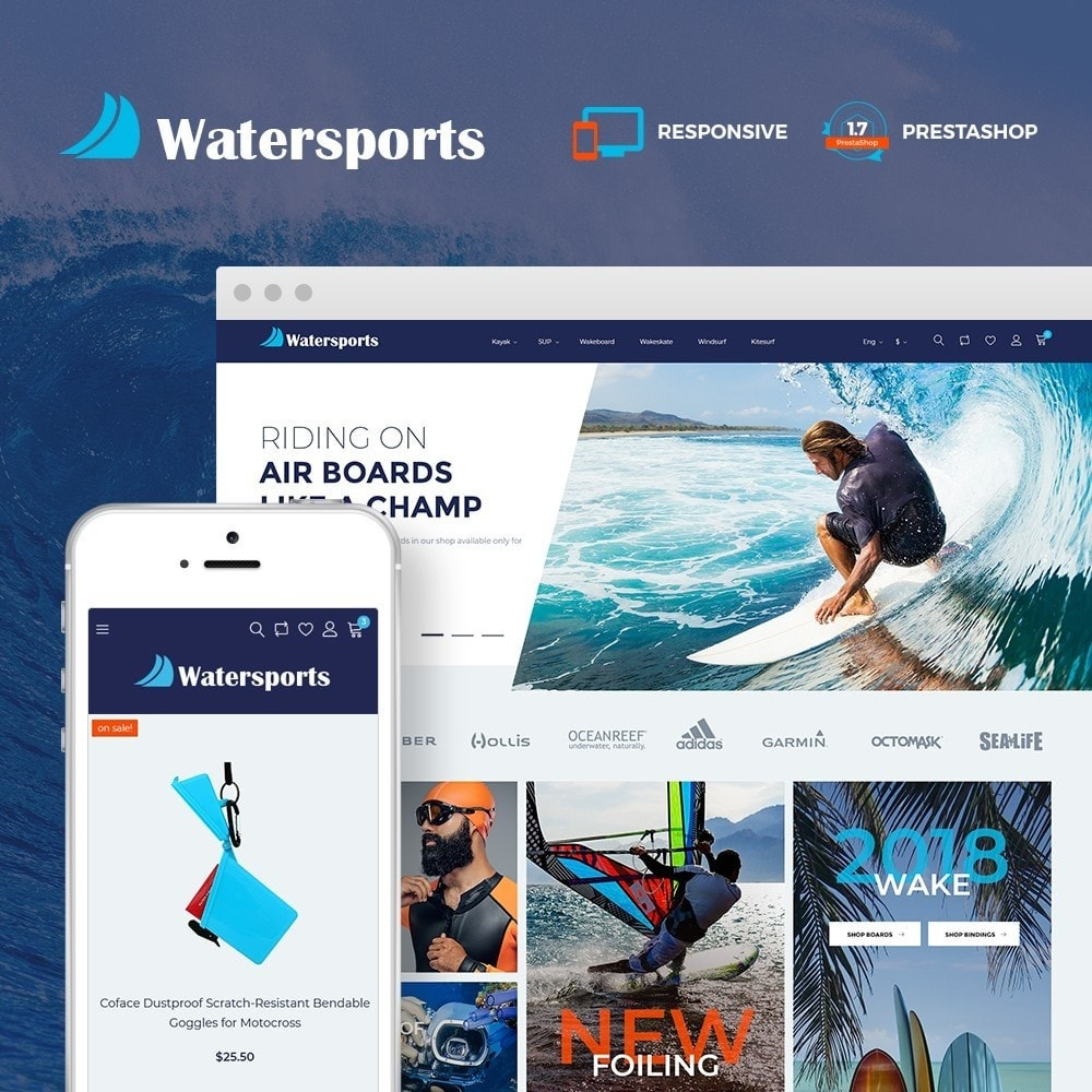 theme - Sport, Loisirs & Voyage - Watersports - Diving Store - 1