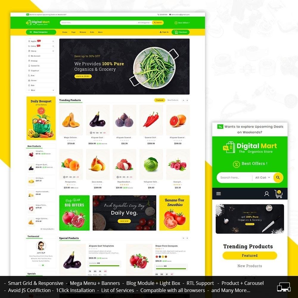 theme - Alimentation & Restauration - Digital Mart Grocery Food - 1