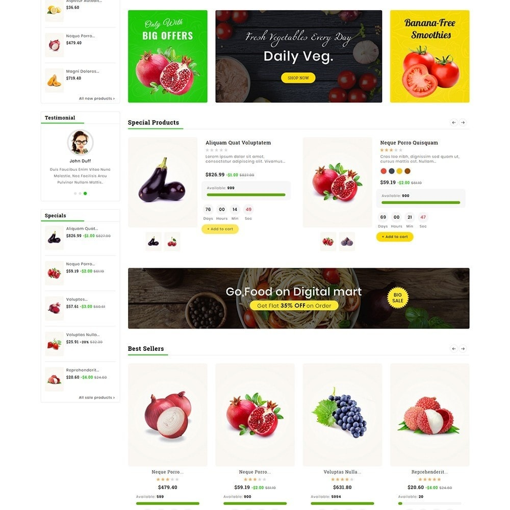 theme - Alimentation & Restauration - Digital Mart Grocery Food - 3