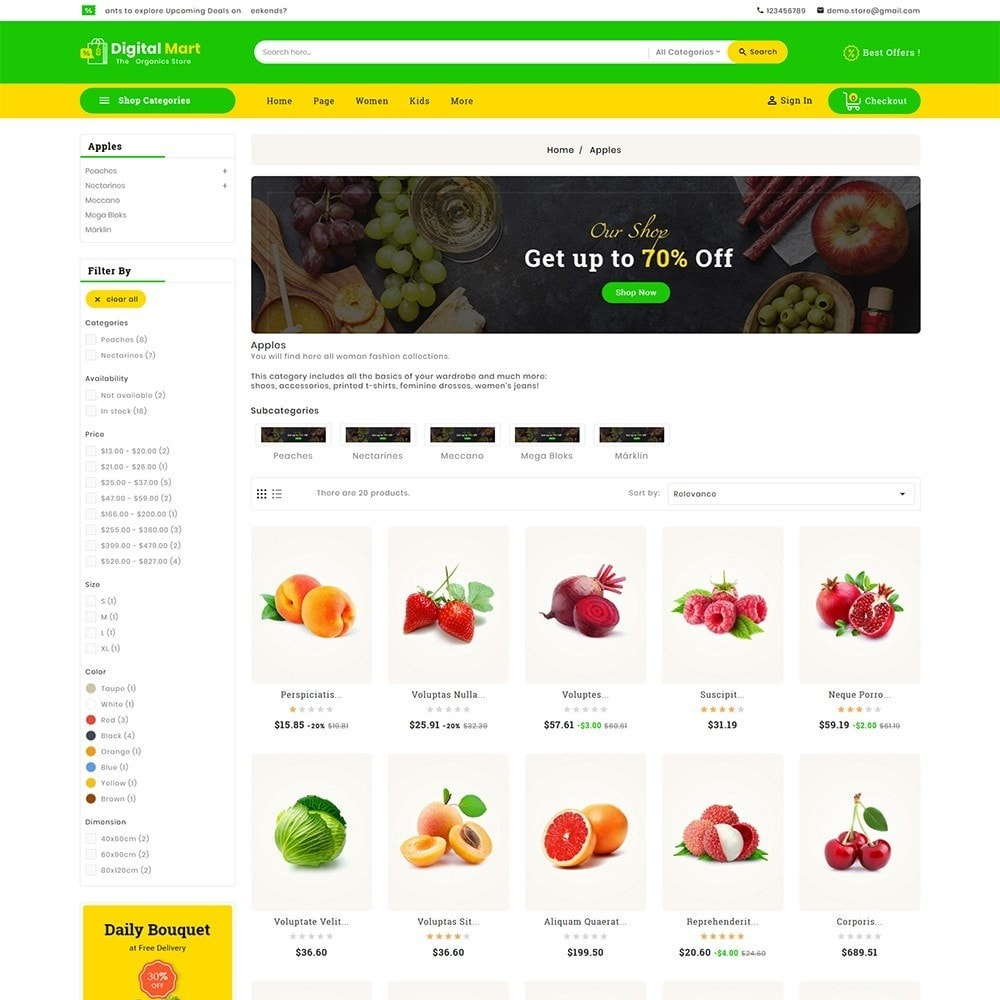 theme - Alimentation & Restauration - Digital Mart Grocery Food - 4