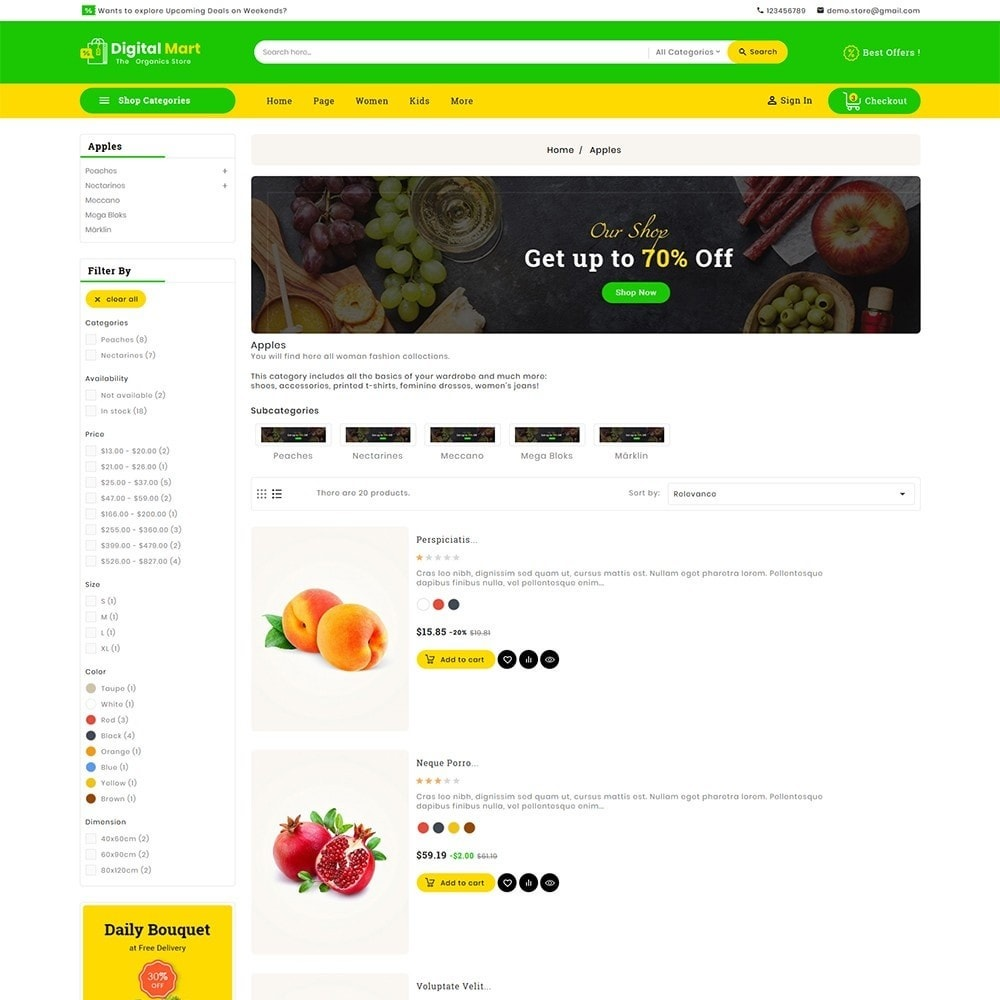 theme - Alimentation & Restauration - Digital Mart Grocery Food - 5