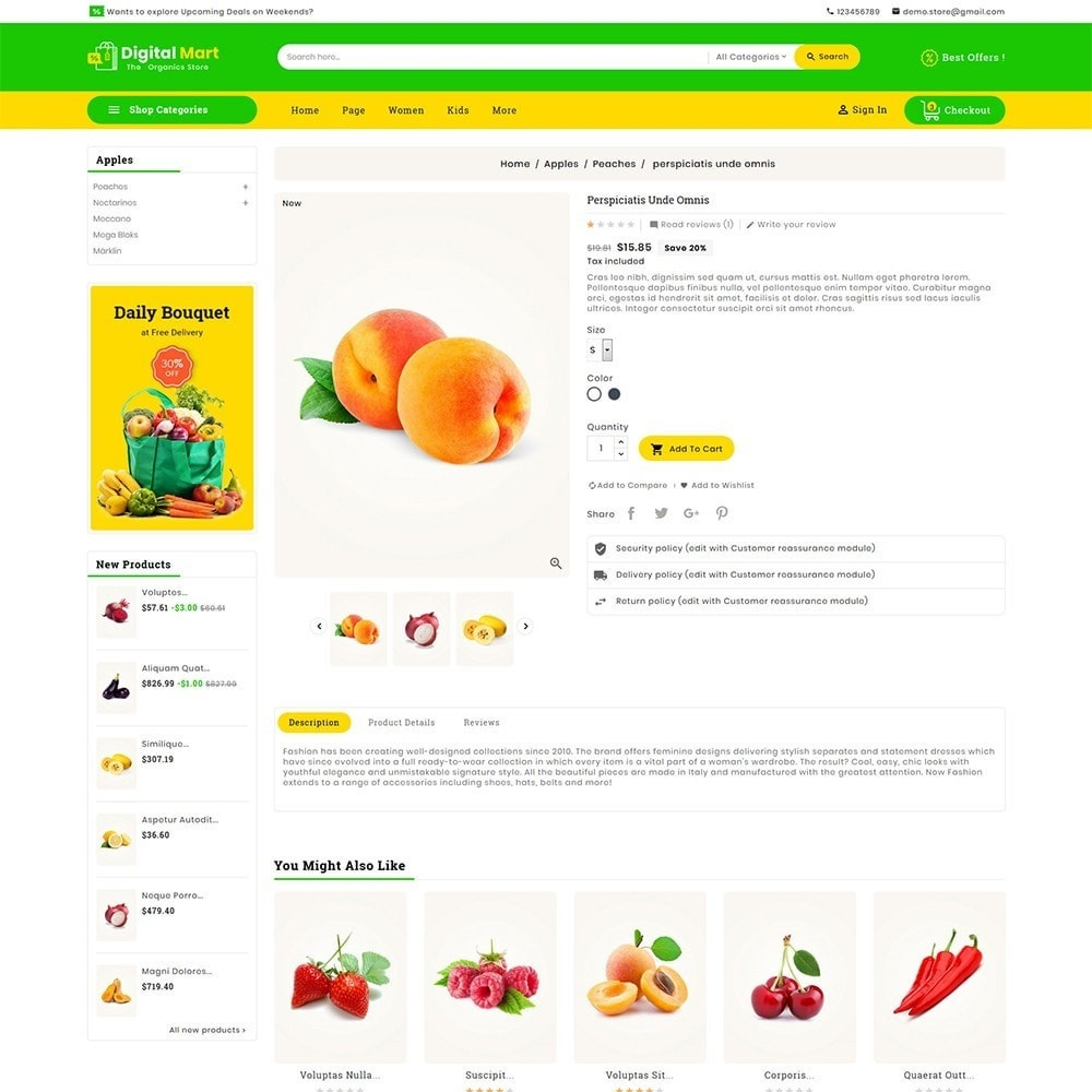 theme - Alimentos & Restaurantes - Digital Mart Grocery Food - 6