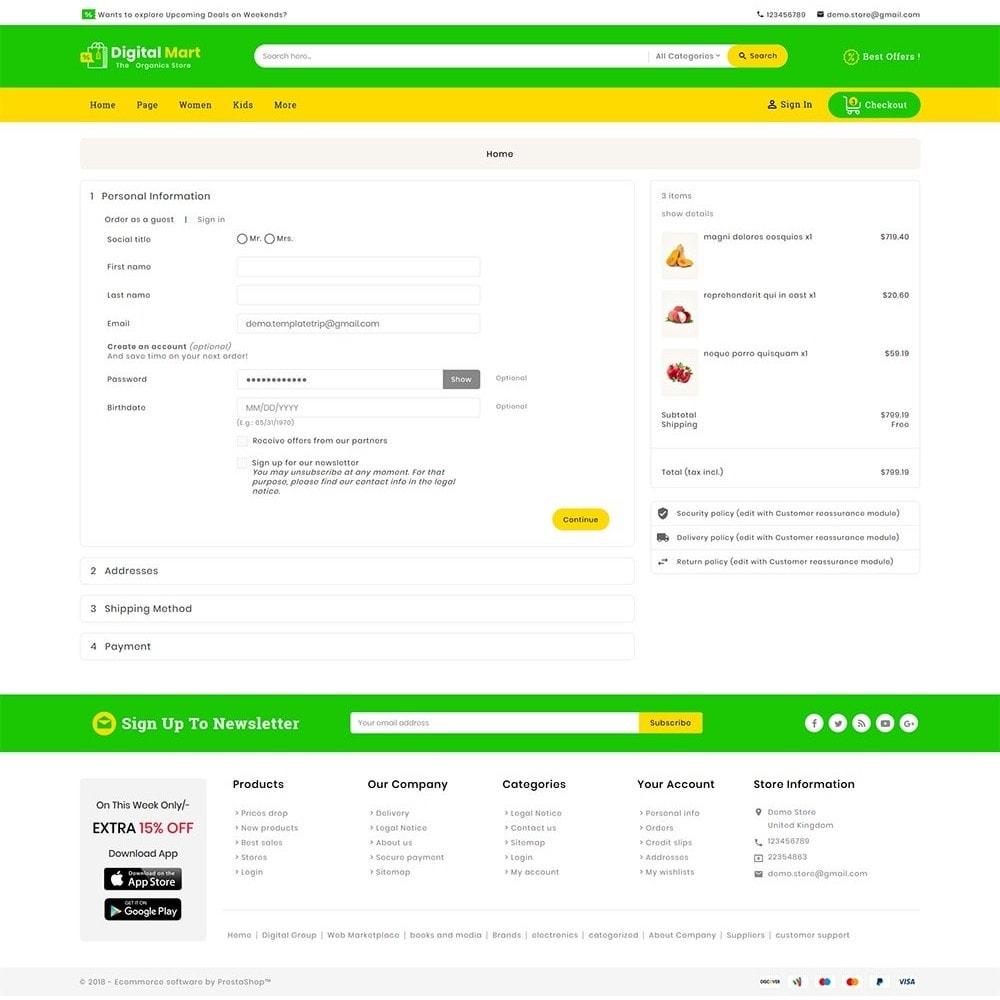 theme - Alimentos & Restaurantes - Digital Mart Grocery Food - 8