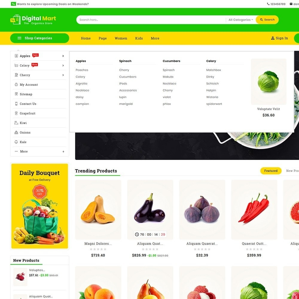 theme - Alimentation & Restauration - Digital Mart Grocery Food - 10