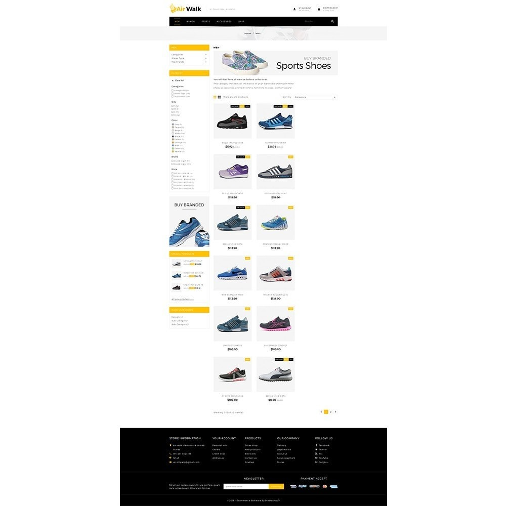 theme - Mode & Chaussures - Air-walk Store - 3