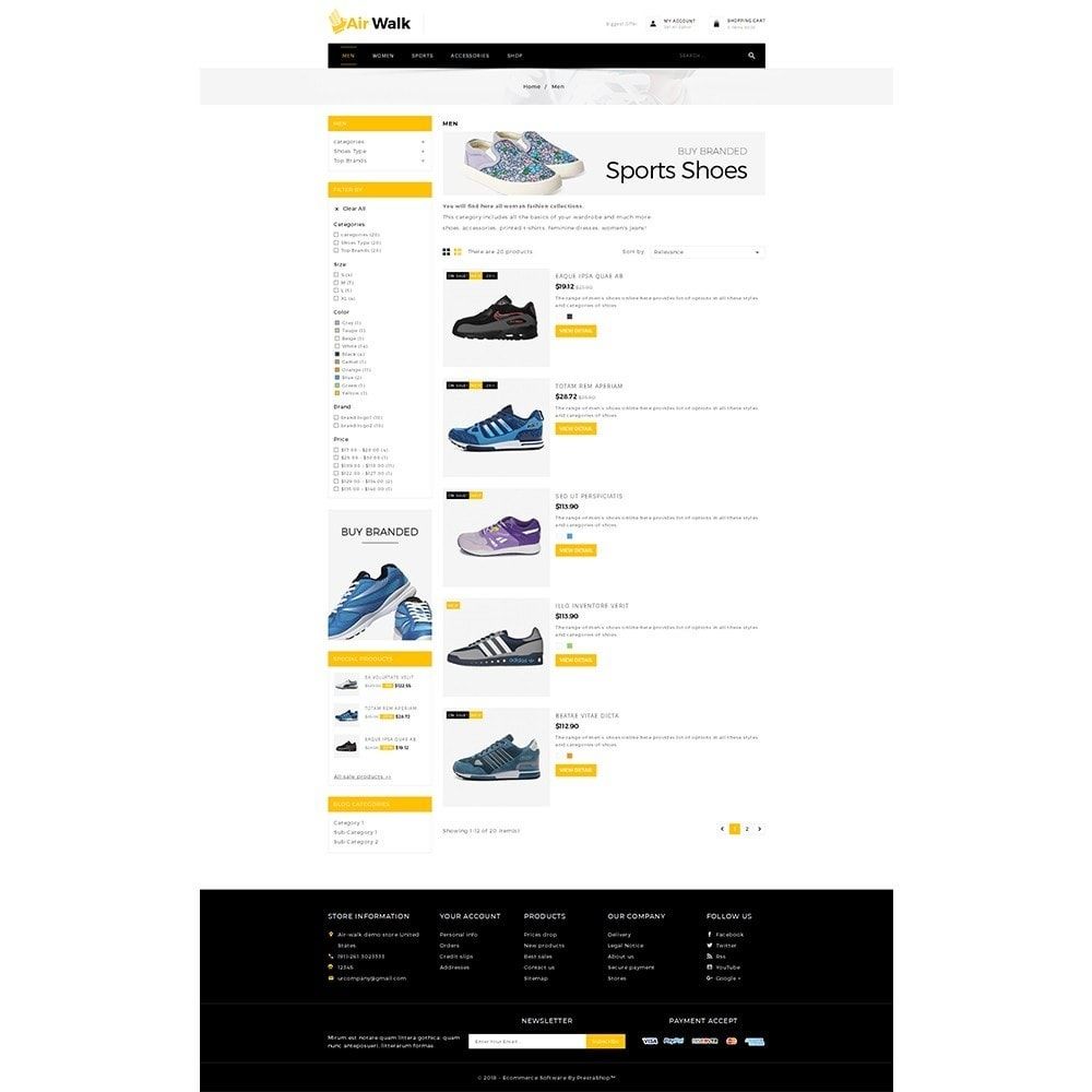 theme - Mode & Chaussures - Air-walk Store - 4