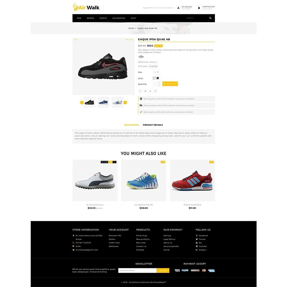 theme - Mode & Chaussures - Air-walk Store - 5