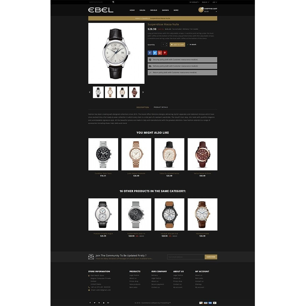theme - Fashion & Shoes - Ebel Watch Store - 5