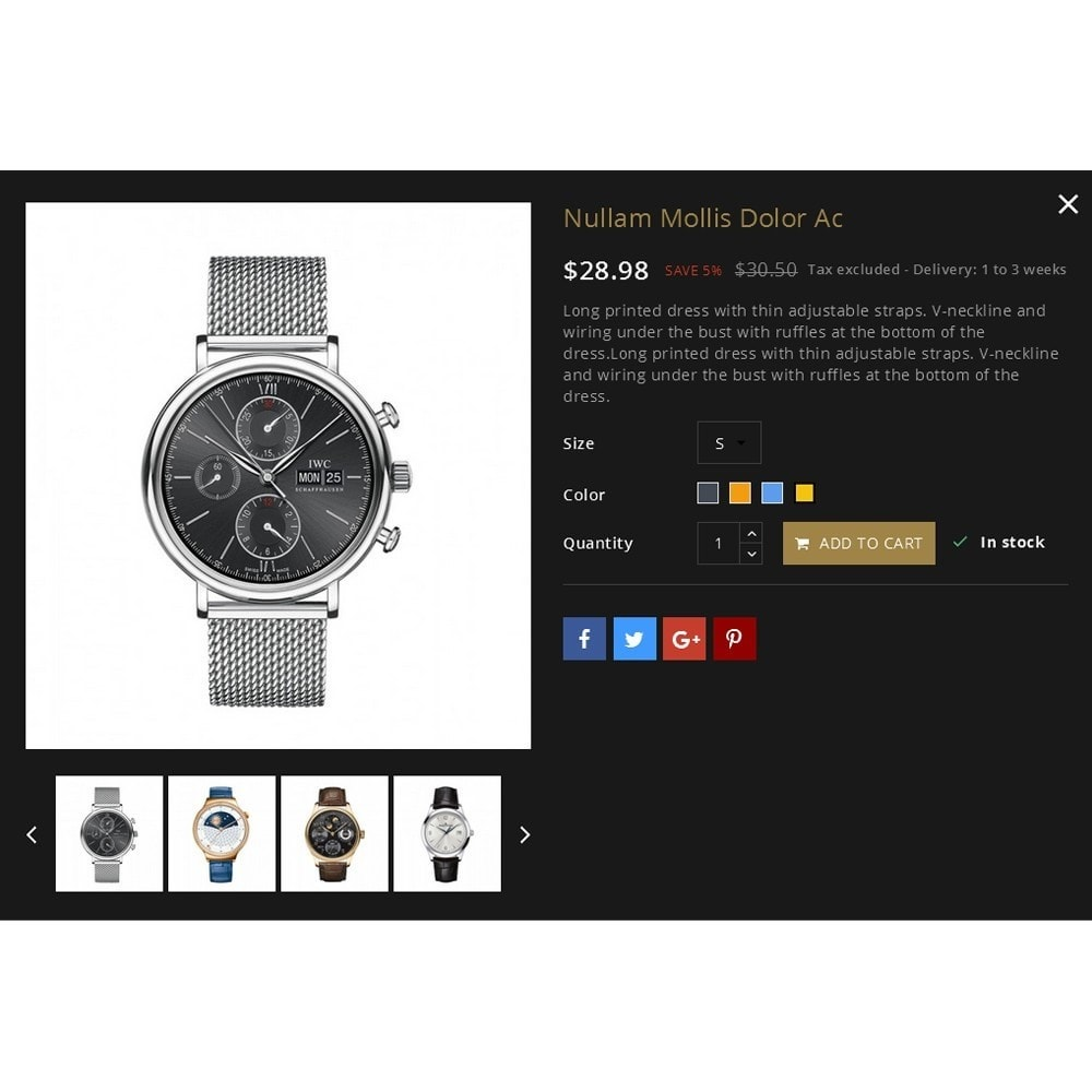 theme - Moda & Calçados - Ebel Watch Store - 7