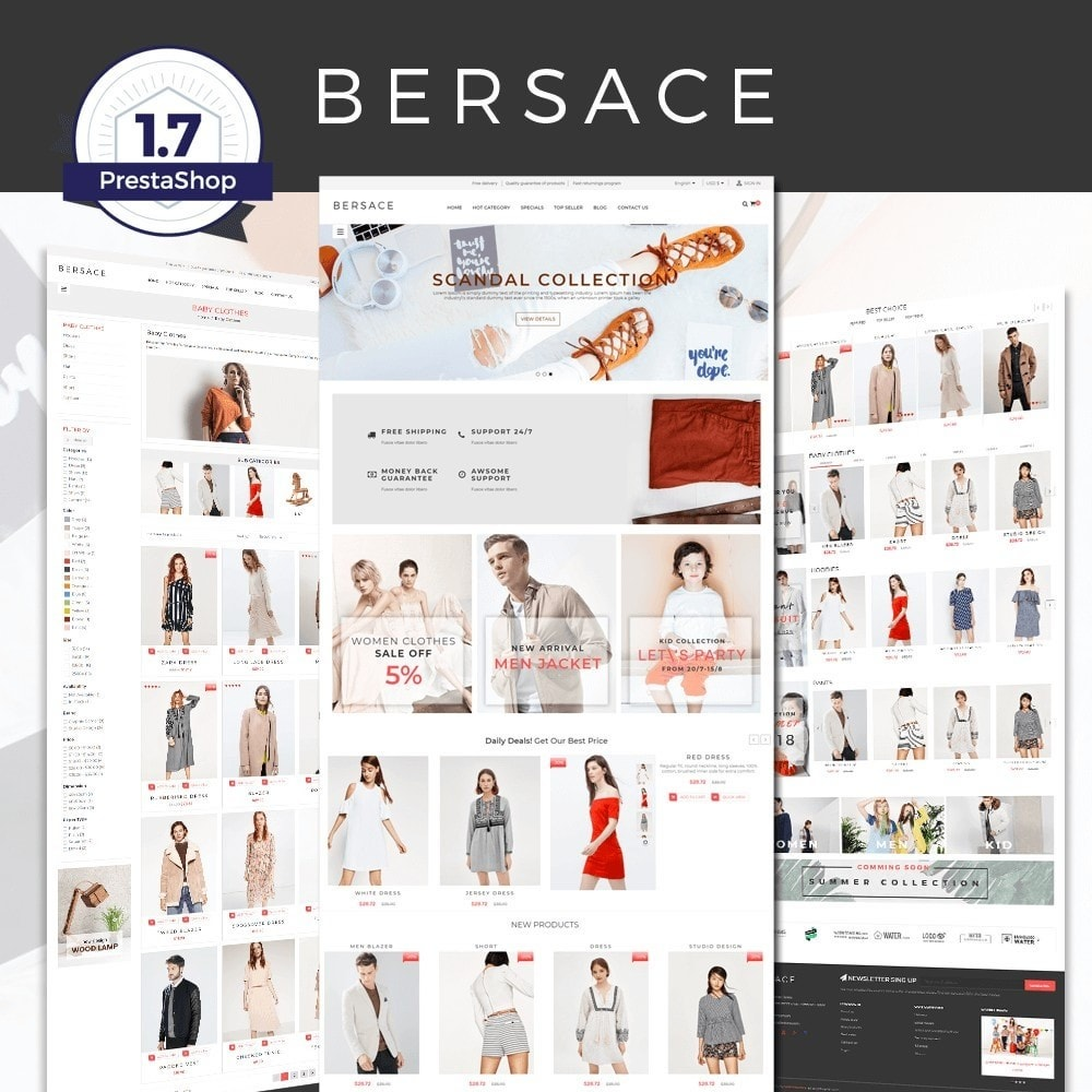 theme - Mode & Chaussures - Bersace Fashion Theme - 1