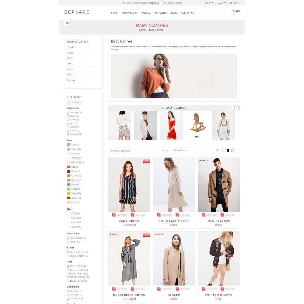 theme - Mode & Chaussures - Bersace Fashion Theme - 5