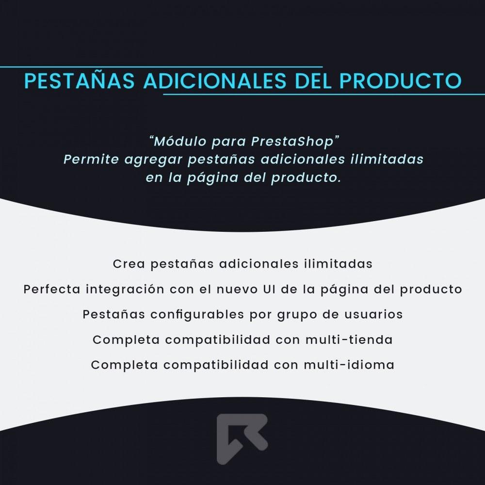 module - Informaciones adicionales y Pestañas - Pestañas Adicionales del Producto - 2