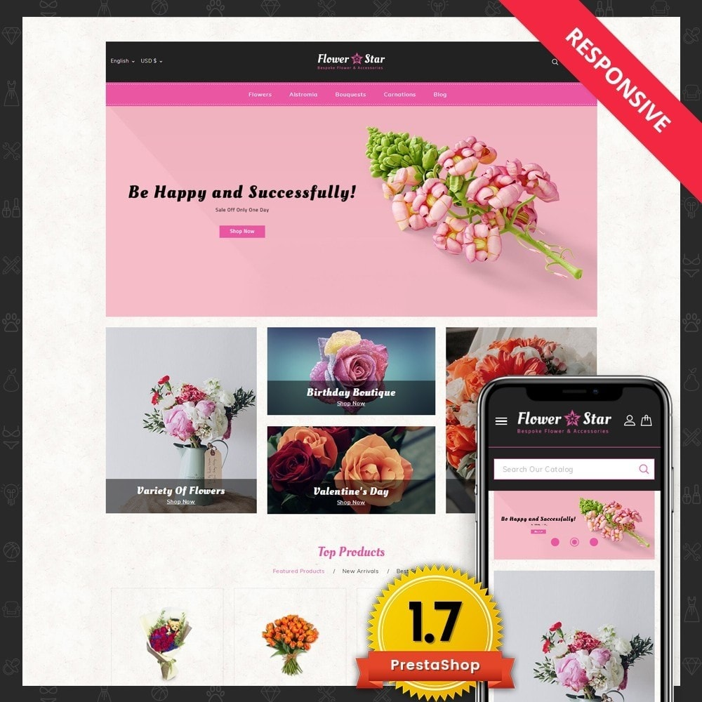 theme - Gifts, Flowers & Celebrations - Flowerstar Store - 1