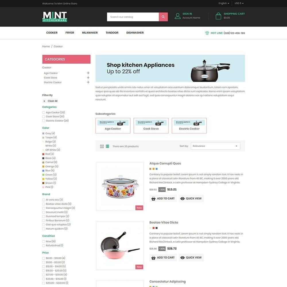 theme - Alimentation & Restauration - Mint - Kitchen Online Store - 4