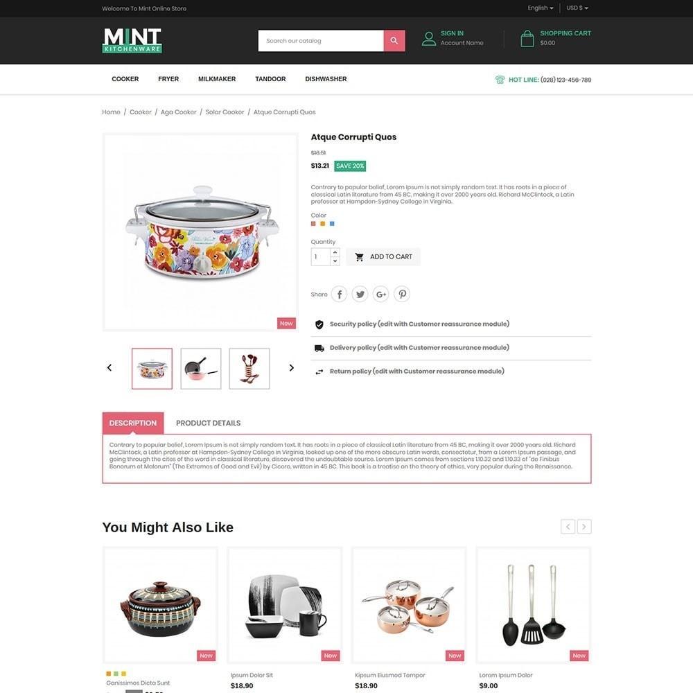 theme - Alimentation & Restauration - Mint - Kitchen Online Store - 5