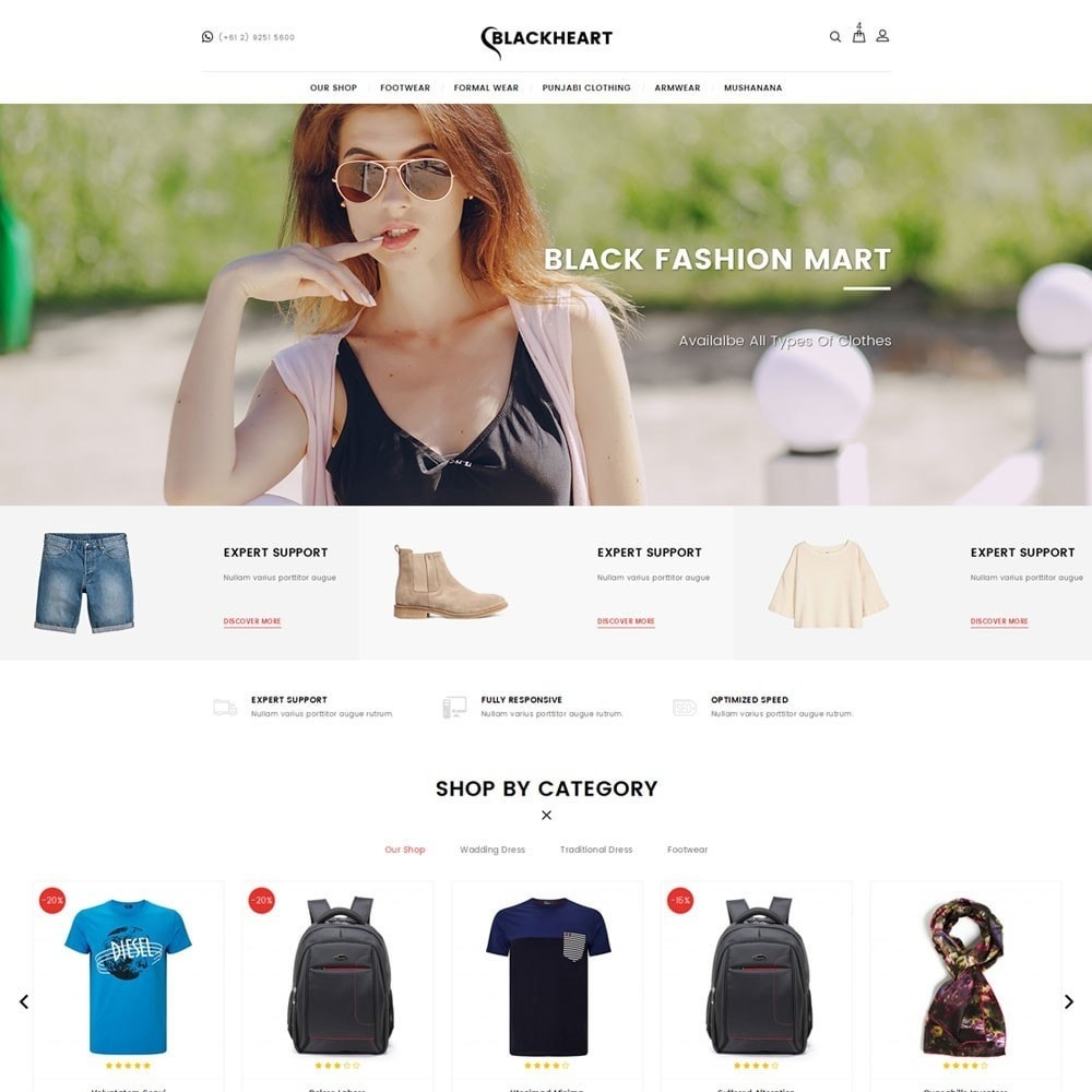 theme - Mode & Chaussures - Blackheart - The Fashion Shop - 2
