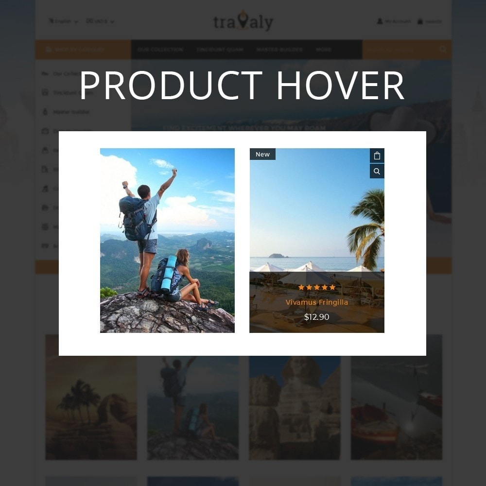 theme - Sport, Loisirs & Voyage - Travaly  -The Tourism Store - 11