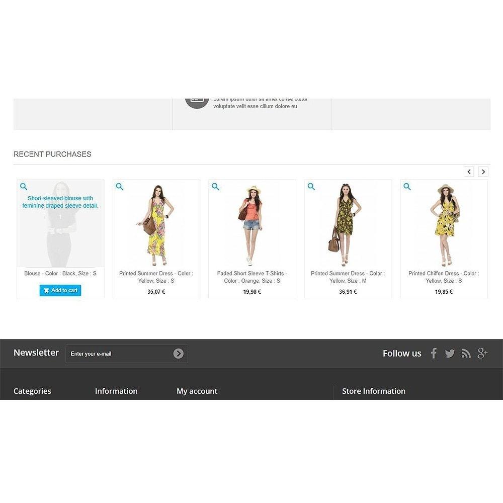 module - Zarządzanie zamówieniami - Recently purchased products | Recent orders - 5