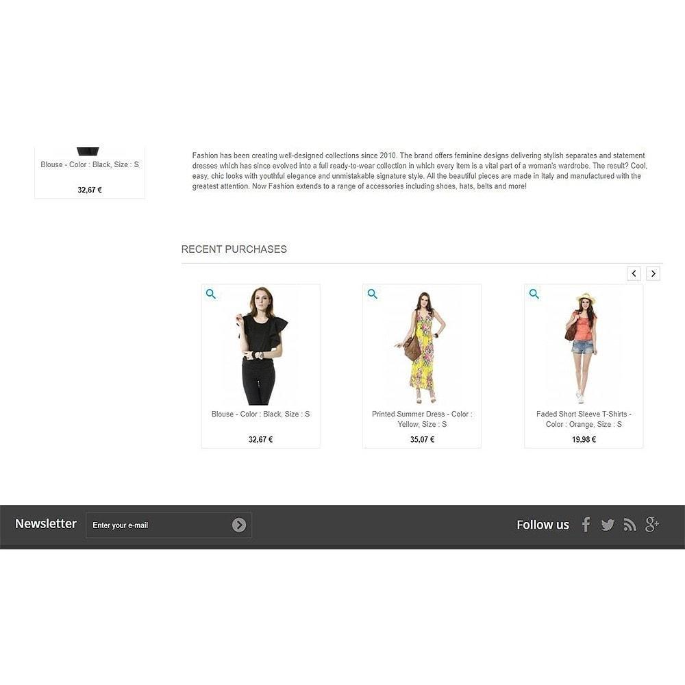 module - Zarządzanie zamówieniami - Recently purchased products | Recent orders - 7
