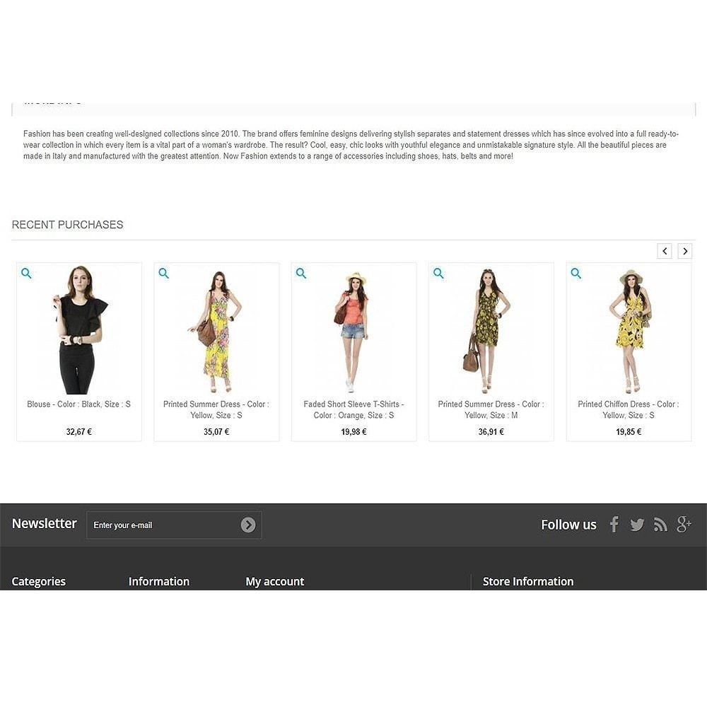 module - Zarządzanie zamówieniami - Recently purchased products | Recent orders - 8