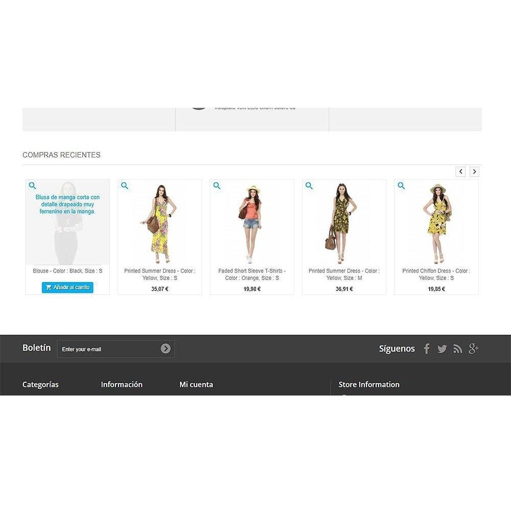 module - Gestión de Pedidos - Productos comprados recientemente   Pedidos recientes - 5