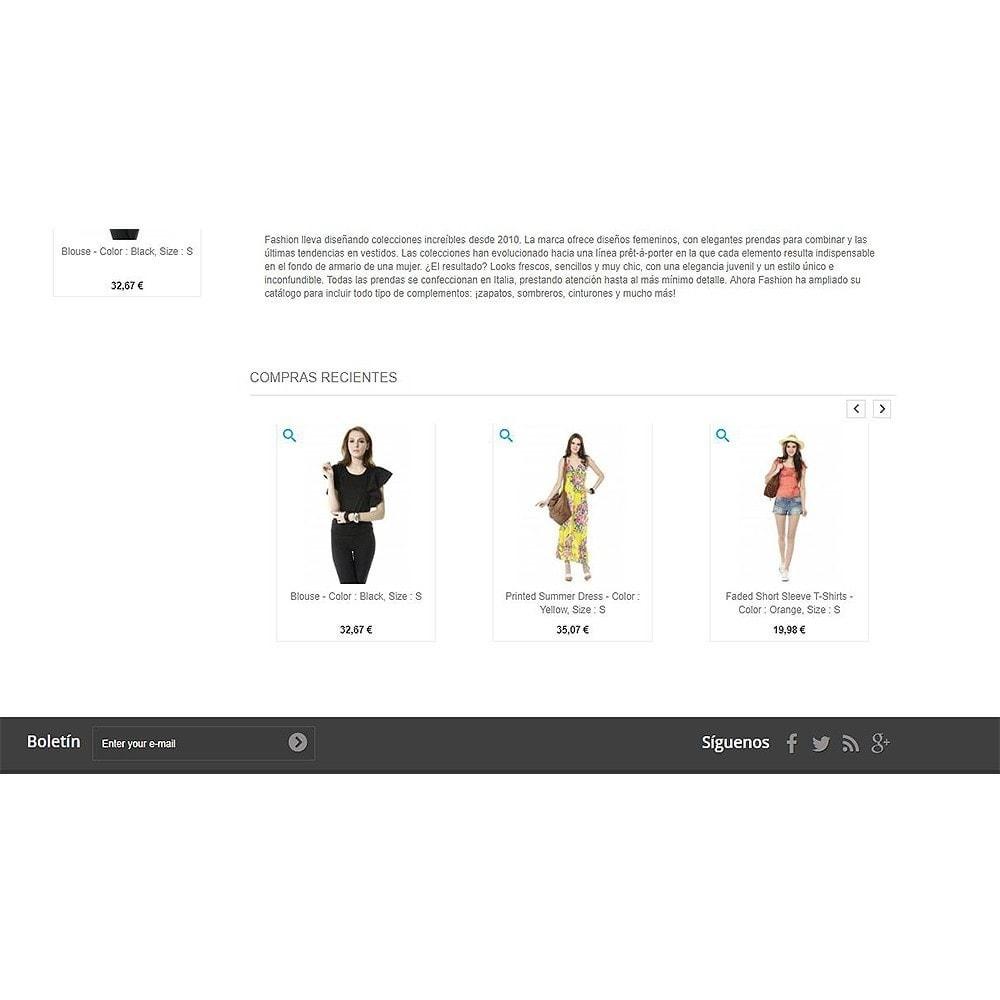 module - Gestión de Pedidos - Productos comprados recientemente   Pedidos recientes - 8