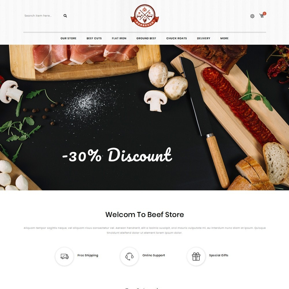 theme - Food & Restaurant - Barbecue - The Meat Shop - 2