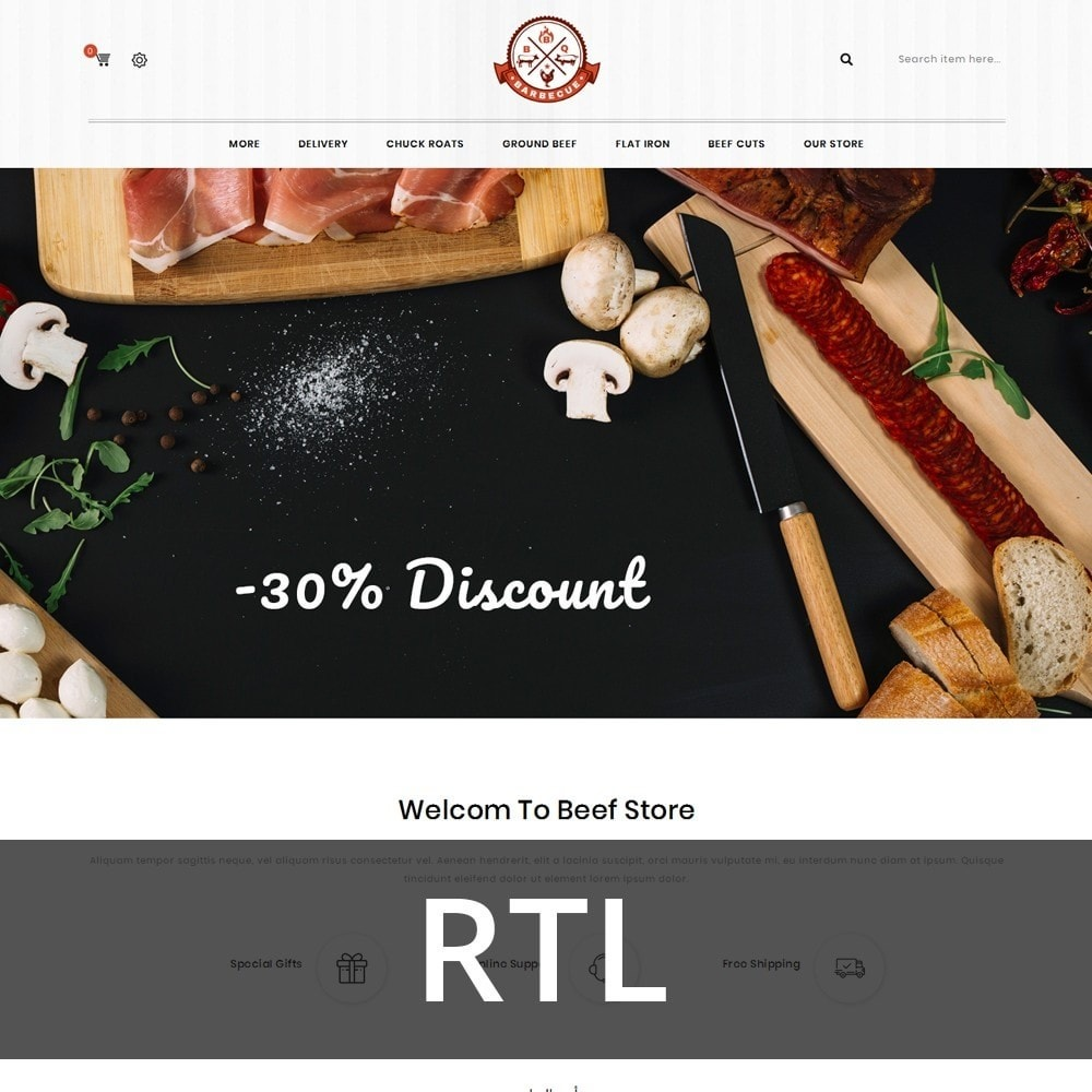 theme - Alimentos & Restaurantes - Barbecue - The Meat Shop - 3