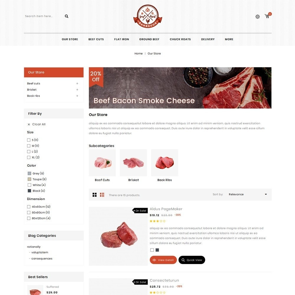theme - Alimentos & Restaurantes - Barbecue - The Meat Shop - 4