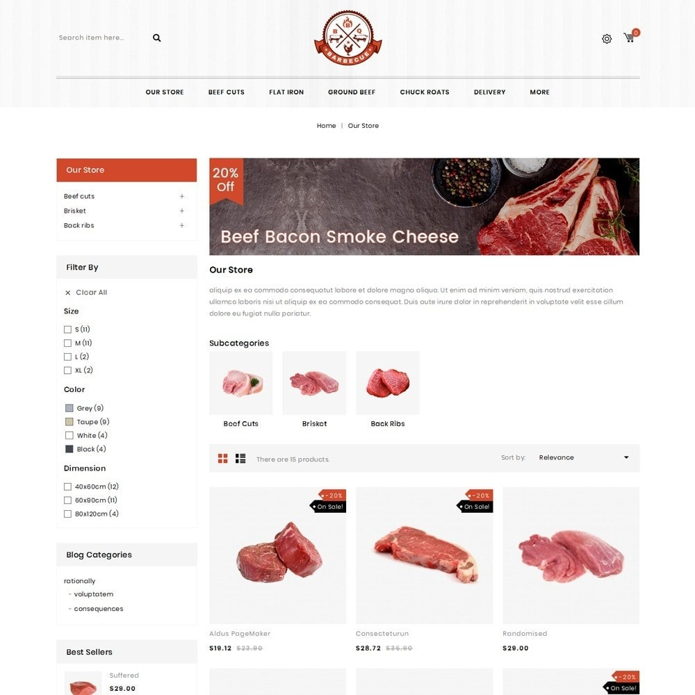 theme - Food & Restaurant - Barbecue - The Meat Shop - 5