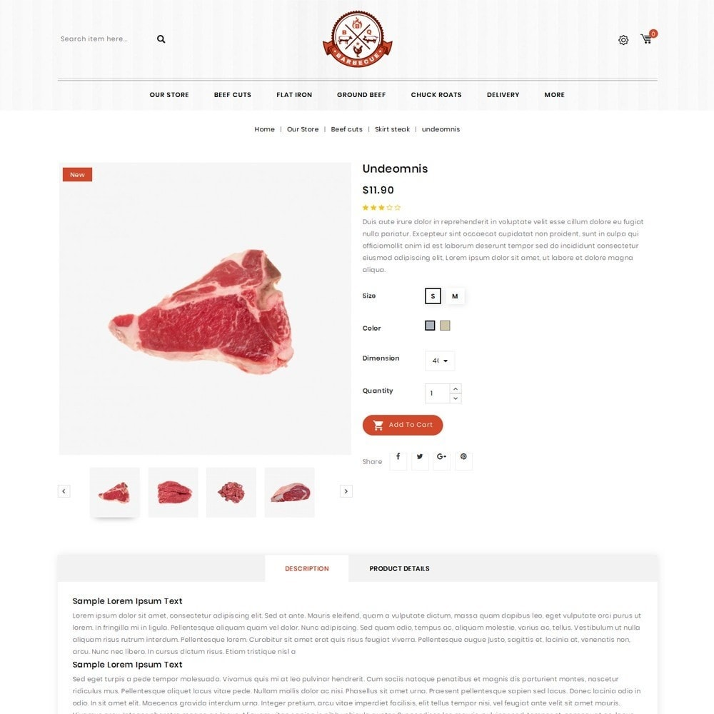 theme - Food & Restaurant - Barbecue - The Meat Shop - 6