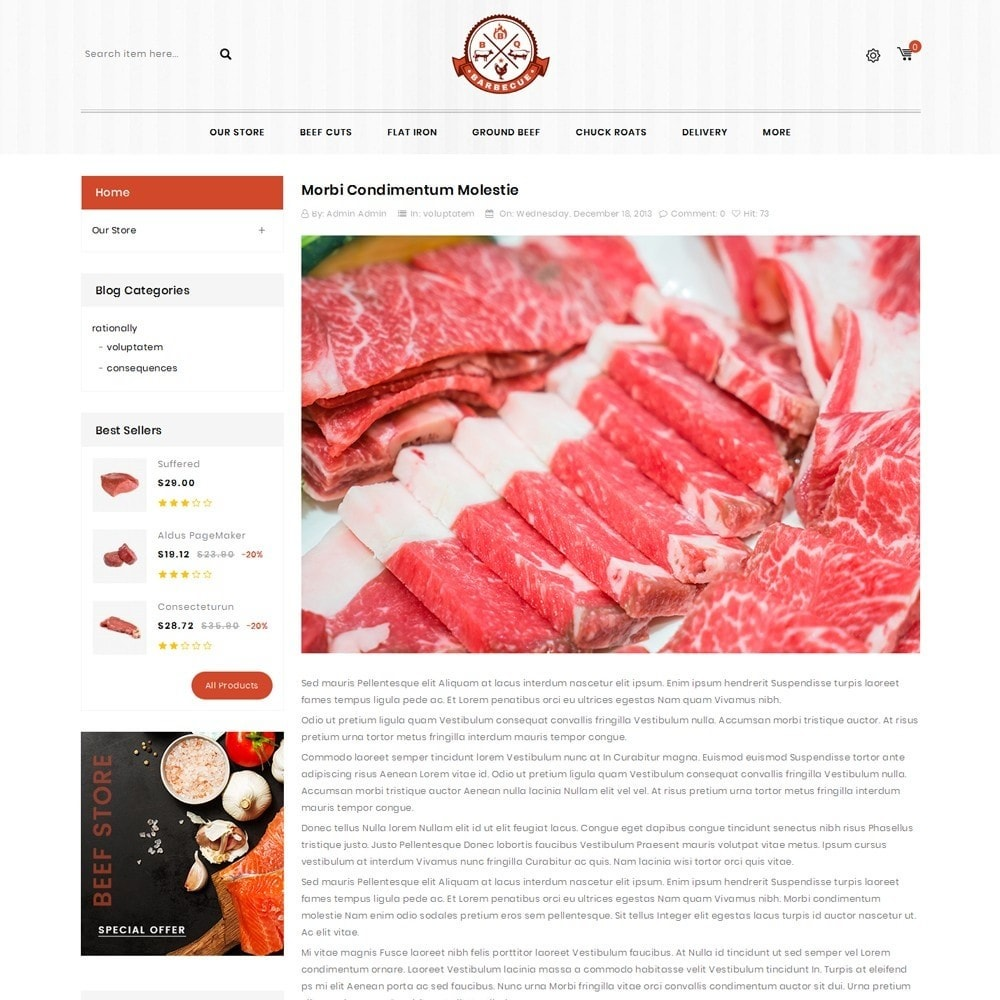 theme - Alimentos & Restaurantes - Barbecue - The Meat Shop - 7
