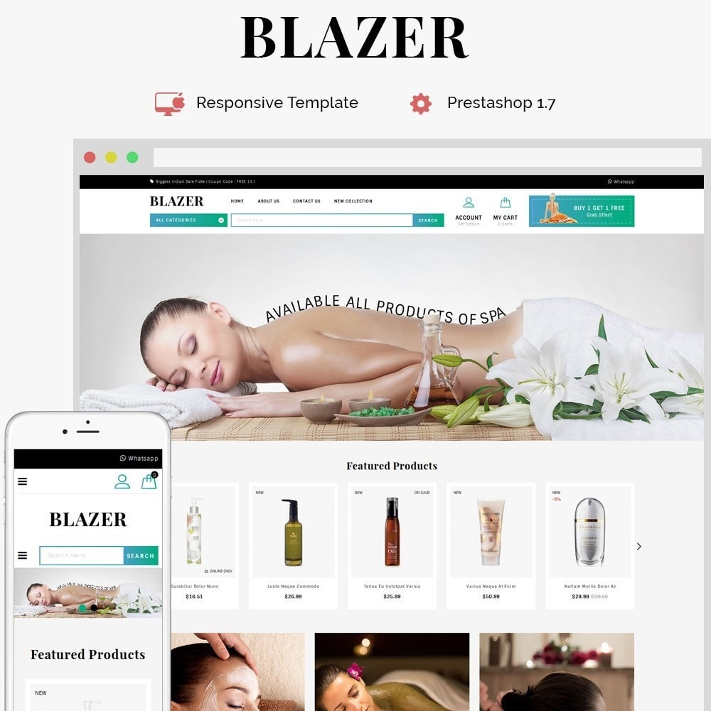 theme - Saúde & Beleza - Blazer Spa Store - 1
