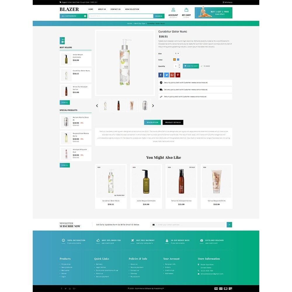 theme - Health & Beauty - Blazer Spa Store - 4