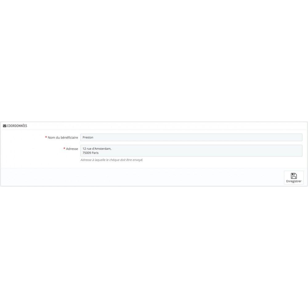 module - Autres moyens de paiement - Payments by check - 1