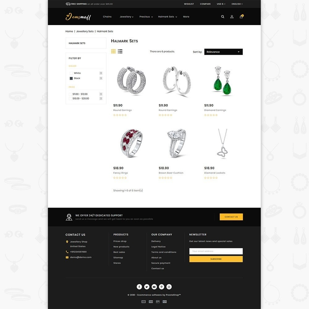theme - Jewelry & Accessories - JemsMall - Royal Jewellery Shop - 3
