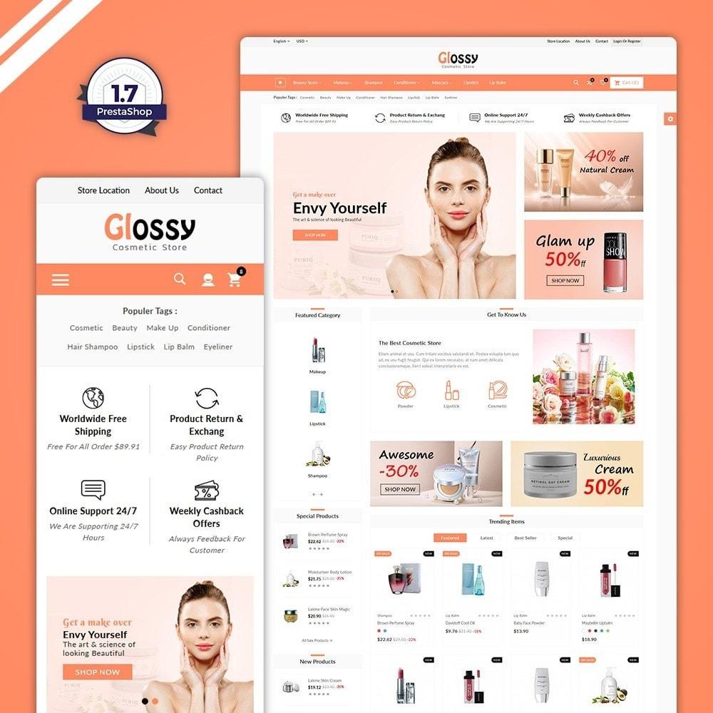 theme - Santé & Beauté - Glossy –Cosmetic Mega Shop - 1