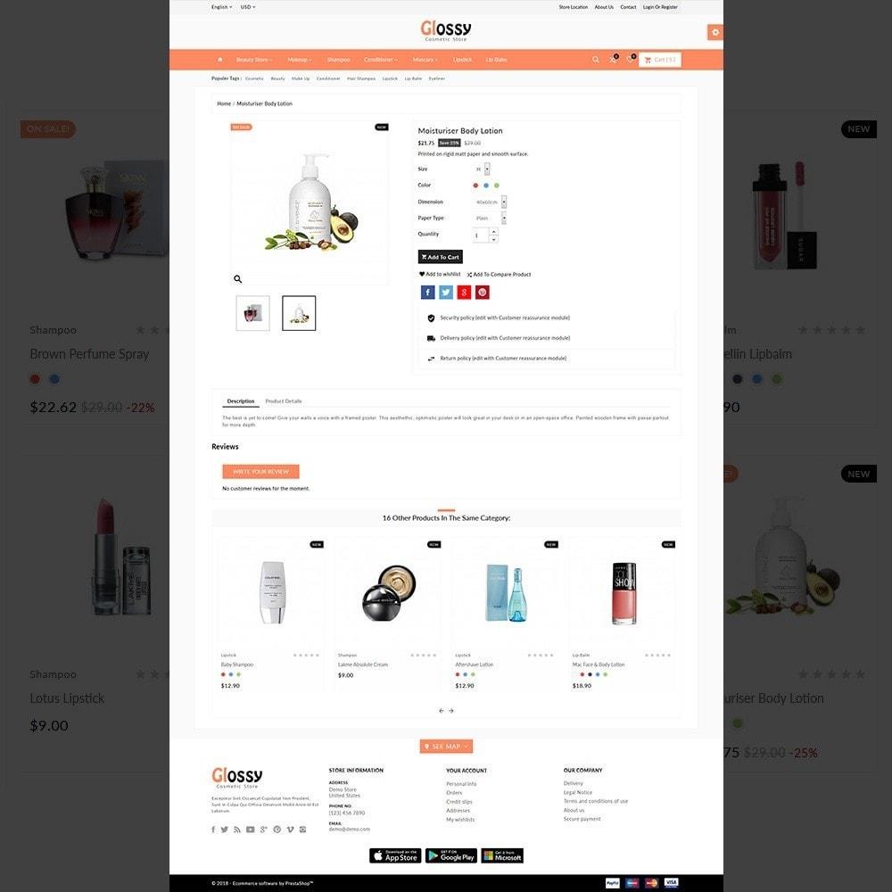 theme - Santé & Beauté - Glossy –Cosmetic Mega Shop - 5