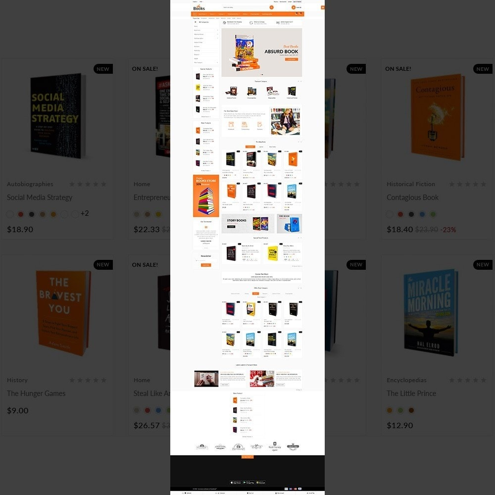 theme - Home & Garden - The Book – Books Store - 2