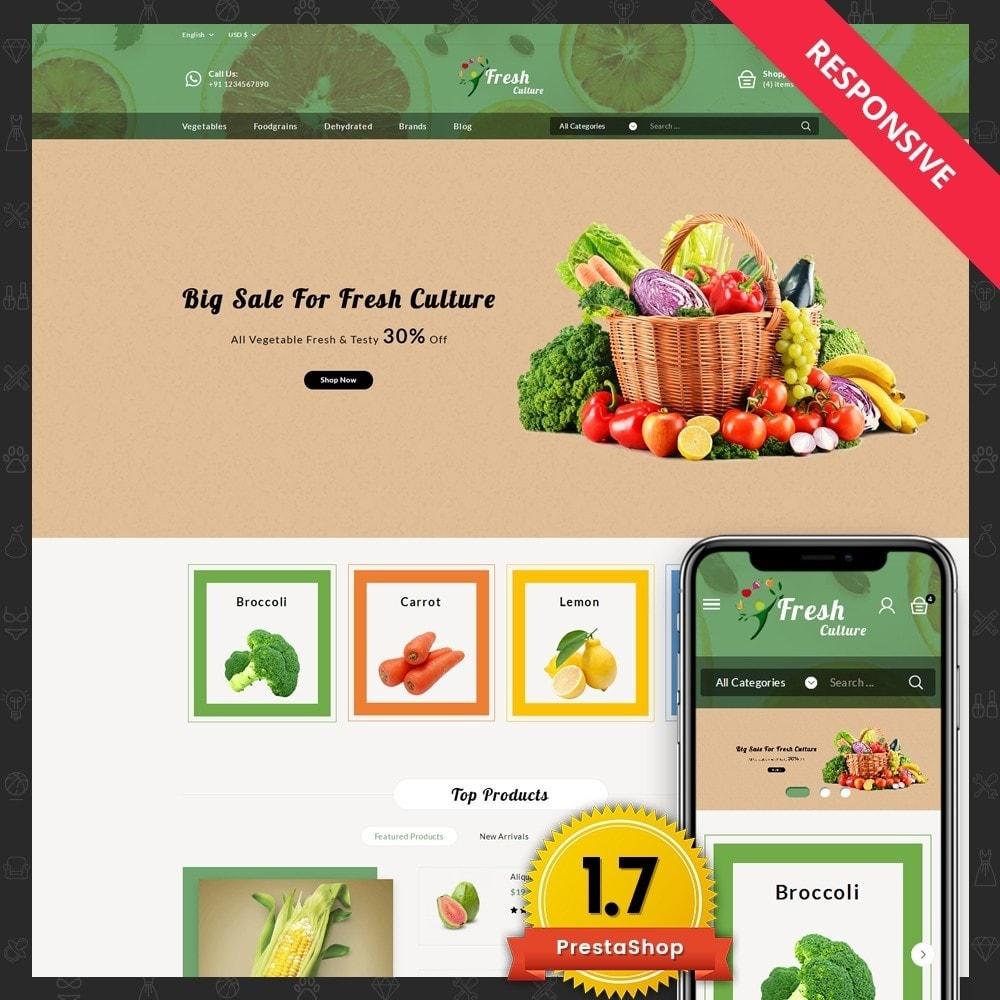 theme - Alimentation & Restauration - Fresh Culture Organic Store - 1