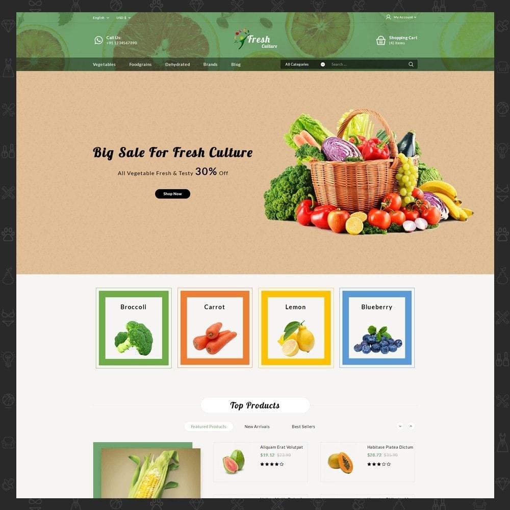 theme - Alimentation & Restauration - Fresh Culture Organic Store - 2