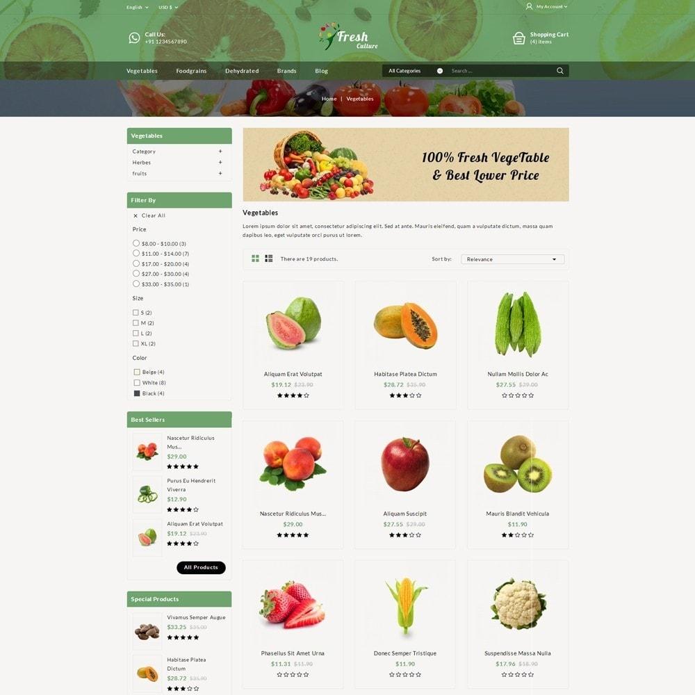 theme - Alimentation & Restauration - Fresh Culture Organic Store - 3
