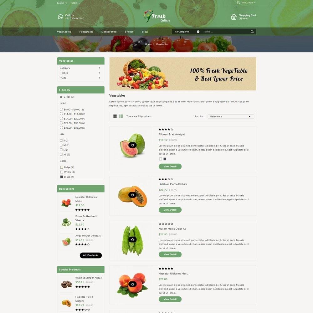 theme - Alimentation & Restauration - Fresh Culture Organic Store - 4