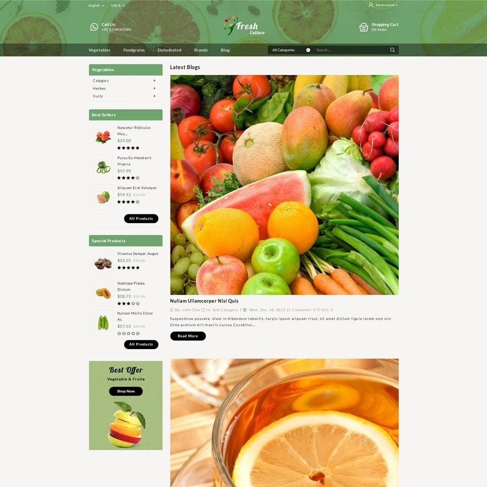 theme - Alimentation & Restauration - Fresh Culture Organic Store - 7
